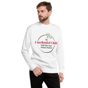 Unisex White Fleece Pullover – My Unschooled Child