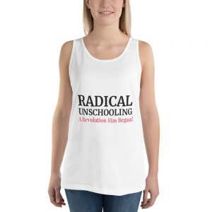 Unisex White Tank Top – Radical Unschooling
