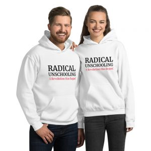 Unisex White Hoodie – Radical Unschooling