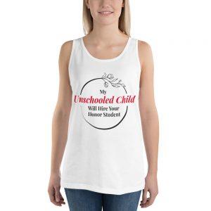 Unisex White Tank Top – My Unschooled Child