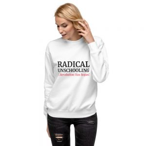 Unisex White Fleece Pullover – Radical Unschooling
