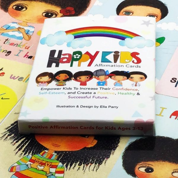 Happy Kids Affirmation Cards Box on Cards