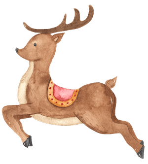 Watercolour Reindeer